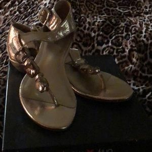 ALFANI Gold Sandals with Stones